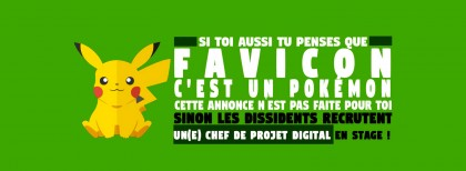 Agence Les Dissidents - stage chef de projet digital